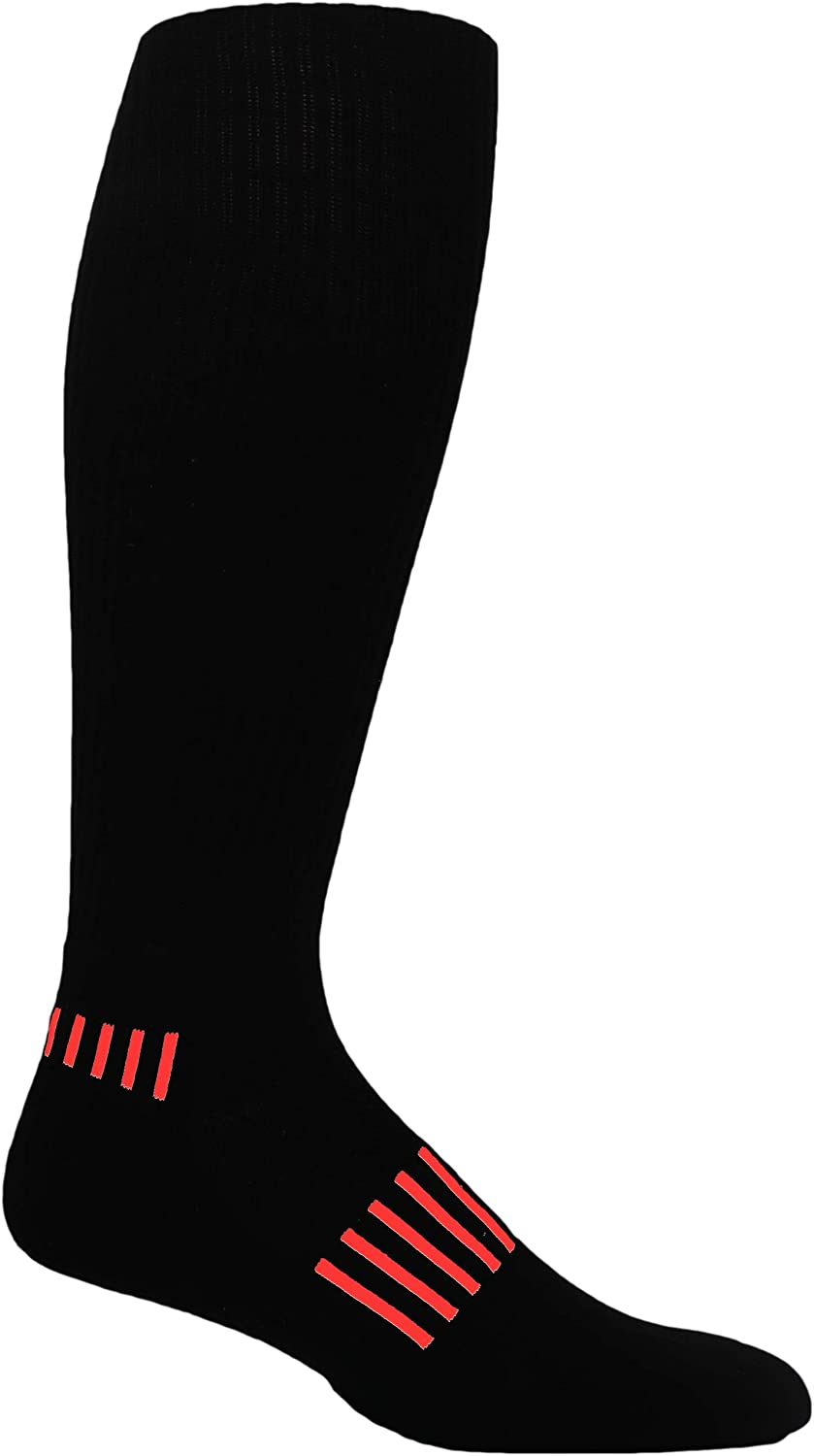 MOXY Socks Black/Red Standard Athletic Knee-High Soccer Socks