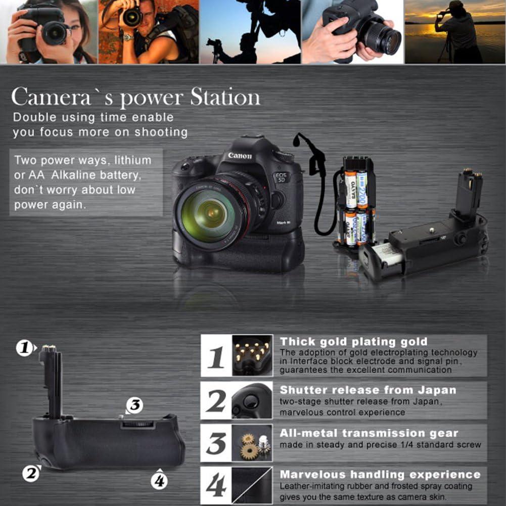 5DSR Meike Vertical Camera Battery Holder Grip MK-5D3 for Canon ...