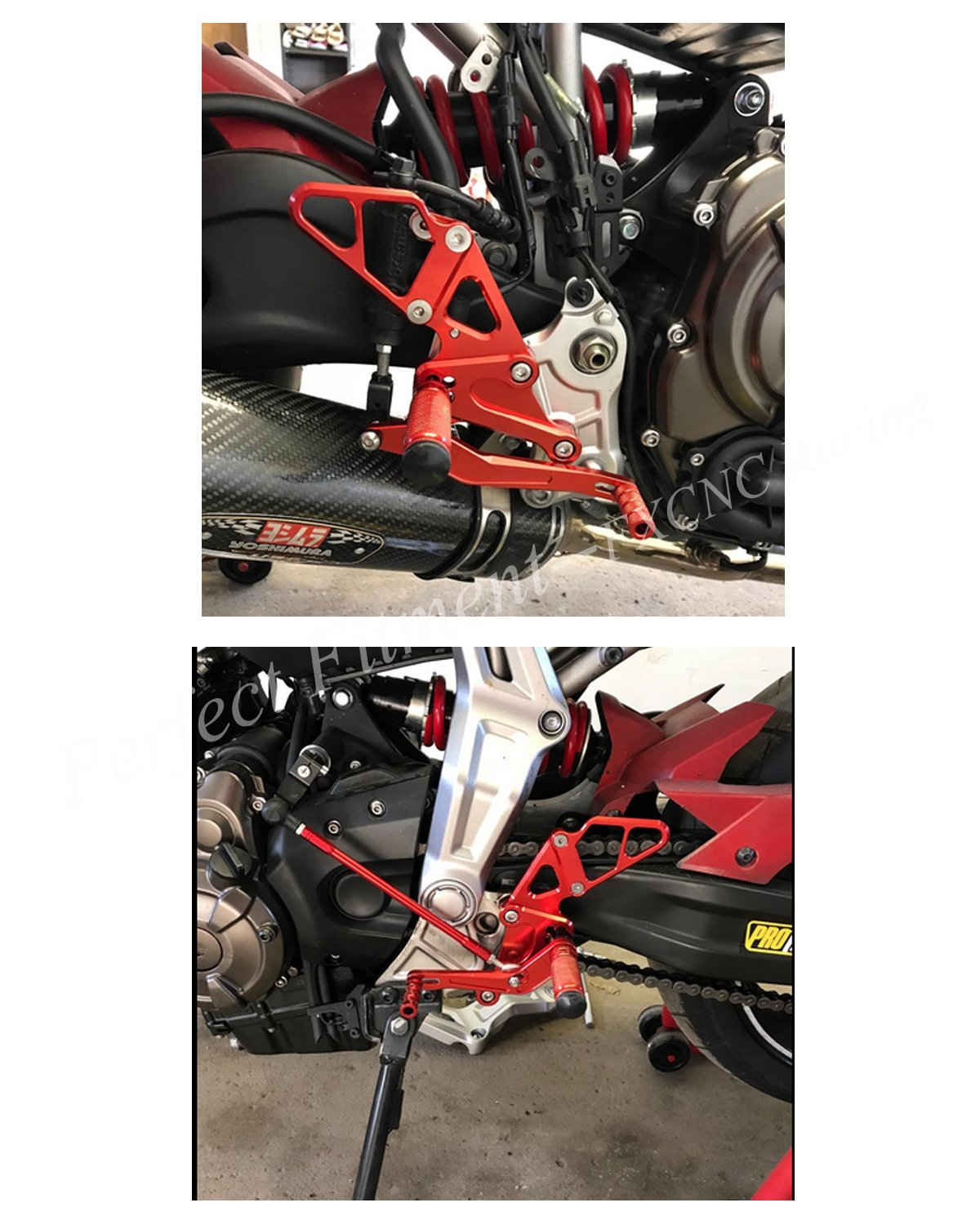 Amazon.com: FXCNC Racing MT07 FZ-07 Billet Motorcycle Rearset Foot Pegs Rear Set Footrests Fully Adjustable Foot Boards Fit For Yamaha MT-07 FZ07 2013 2014 ...