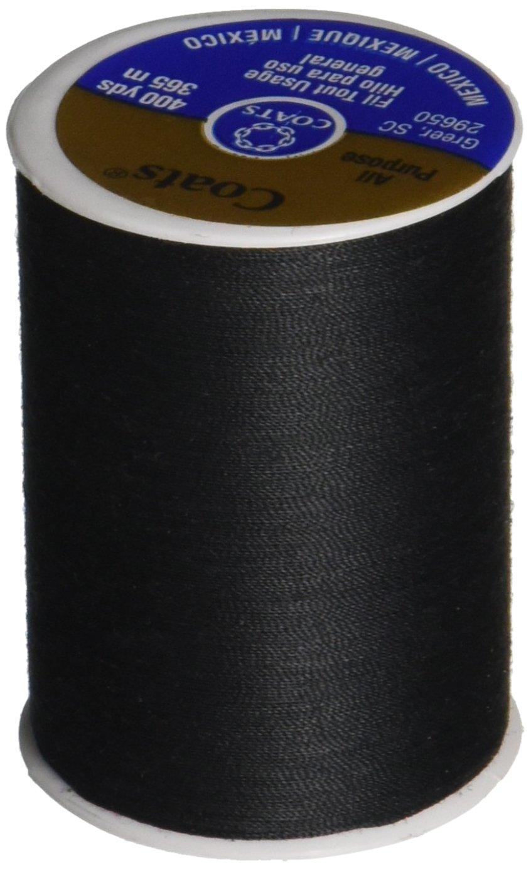Coats /& Clark Dual Duty All-Purpose Thread 400 Yards//1 Spool of Yarn Black