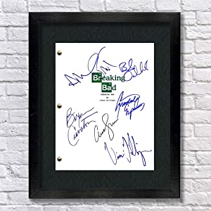 Breaking Bad TV Cast Autographed Signed Reprint 8.5x11 Script UNFRAMED Bryan Cranston, Walter White, Aaron Paul, Jesse Pinkman, Bob Odenkirk, Anna Gunn, Giancarlo Esposito