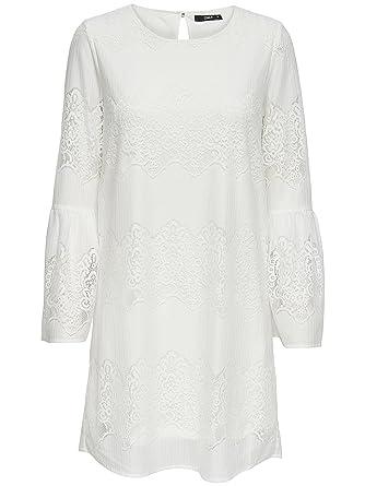 ONLY Damen Kleid aus Spitze Sommerkleid Freizeitkleid Boho: Amazon ...