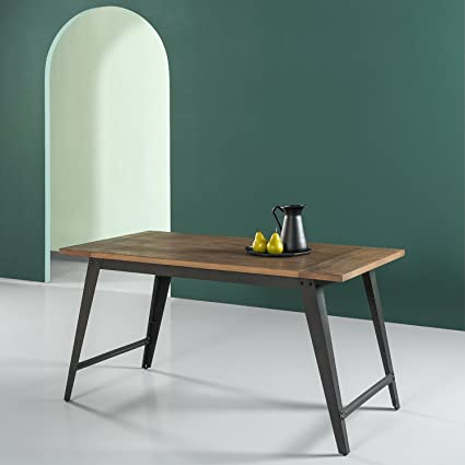 Merveilleux Zinus Wood And Metal Dining Table