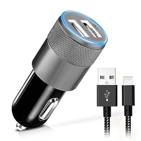 qouya doble puerto 3.1 a adaptador de cargador de coche USB ...