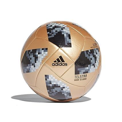on sale 161b6 e01e8 adidas World Cup 2018 Glider Training Soccer Ball 5 Gold Black