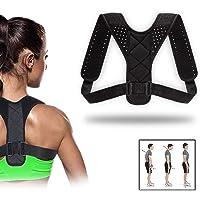 Haltungskorrektur für Männer und Frauen, verstellbare obere Rückenstütze zur Unterstützung des Schlüsselbeins und zur Schmerzlinderung von Nacken, Rücken und Schulter