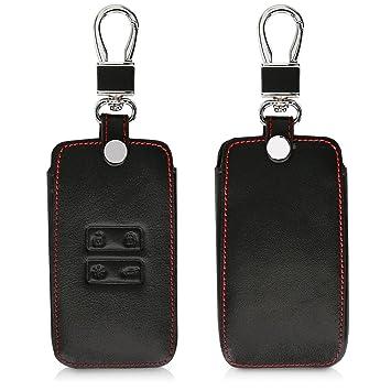 kwmobile Funda para Llave Smart Key de 4 Botones para Coche Renault (Solamente Keyless Go) - Cubierta de [Cuero sintético] - Case para Mando y Control ...