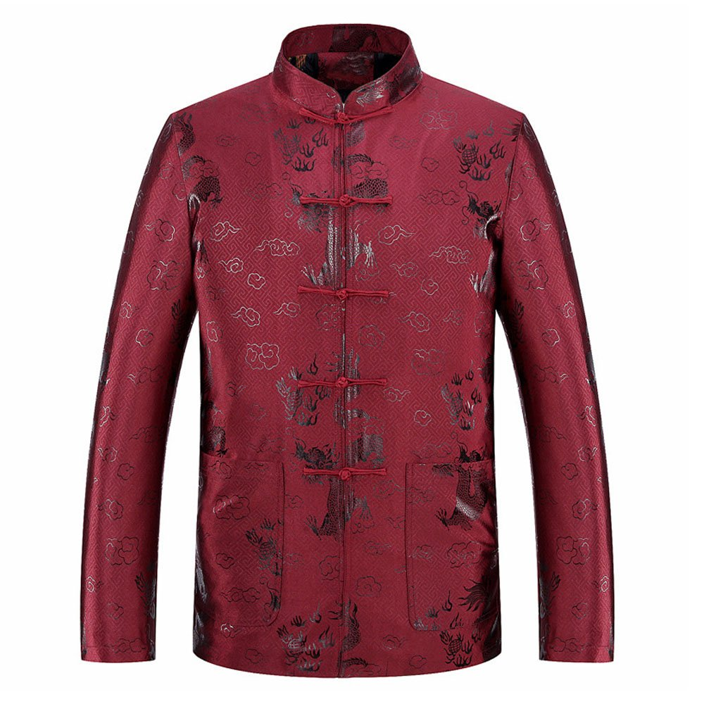 Men's Chinese Traditional New Year Festivals Tang Suit Autumn And Winter Kung Fu Jackets