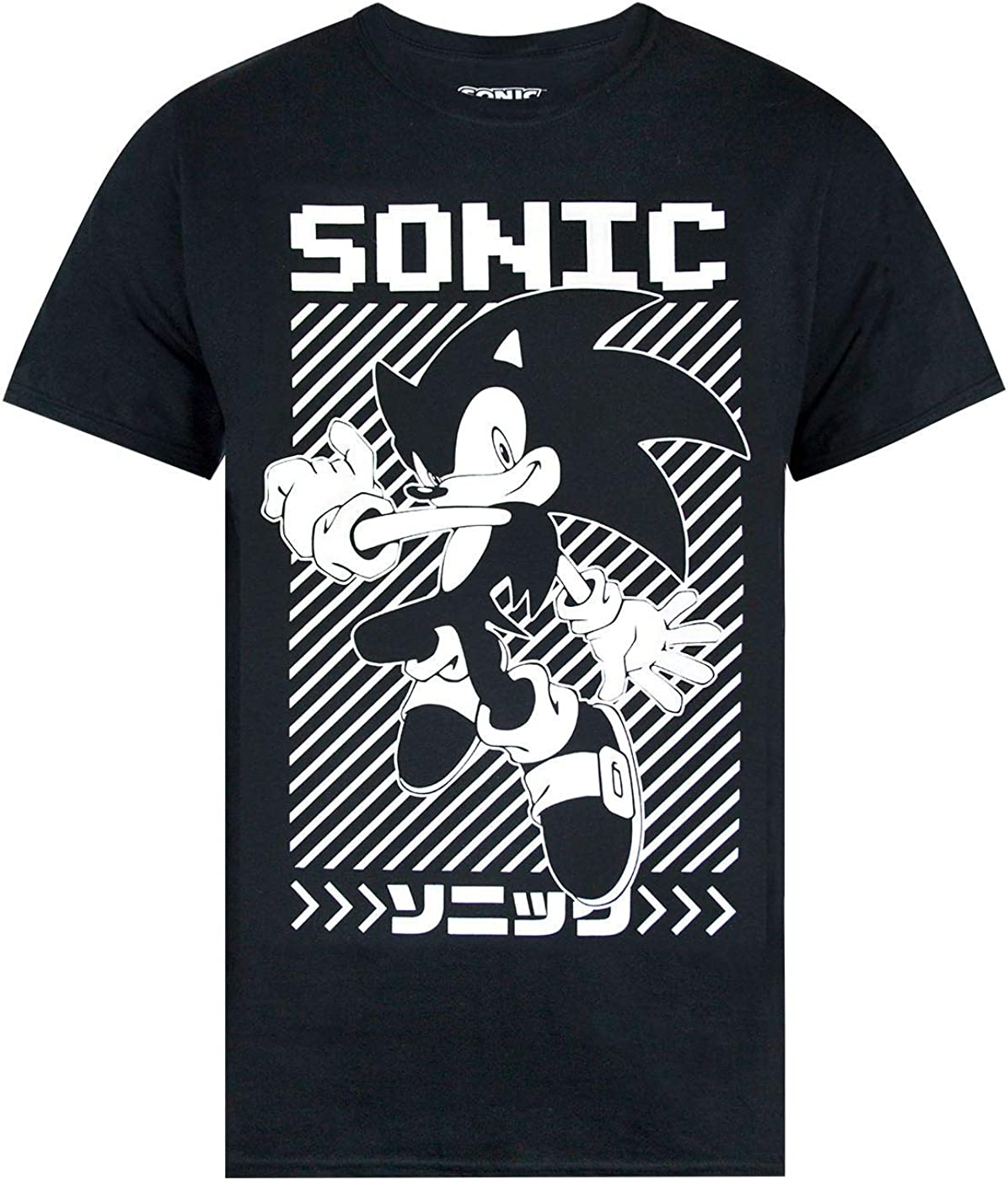 TALLA M. Sonic The Hedgehog Japanese Poster Men's T-Shirt