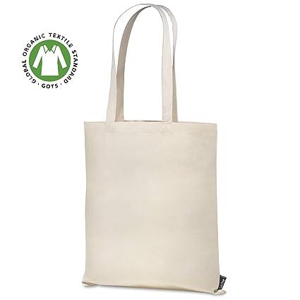 Santa Perago - Bolsa de Yute de algodón orgánico de 140 g/m2 ...