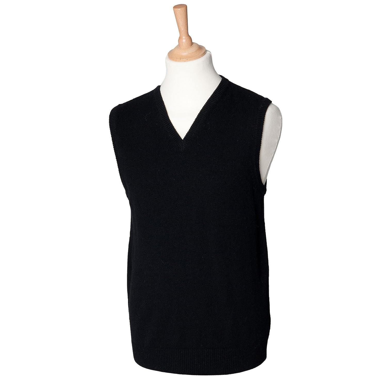 Henbury Lambswool Sleeveless V Neck Sweater