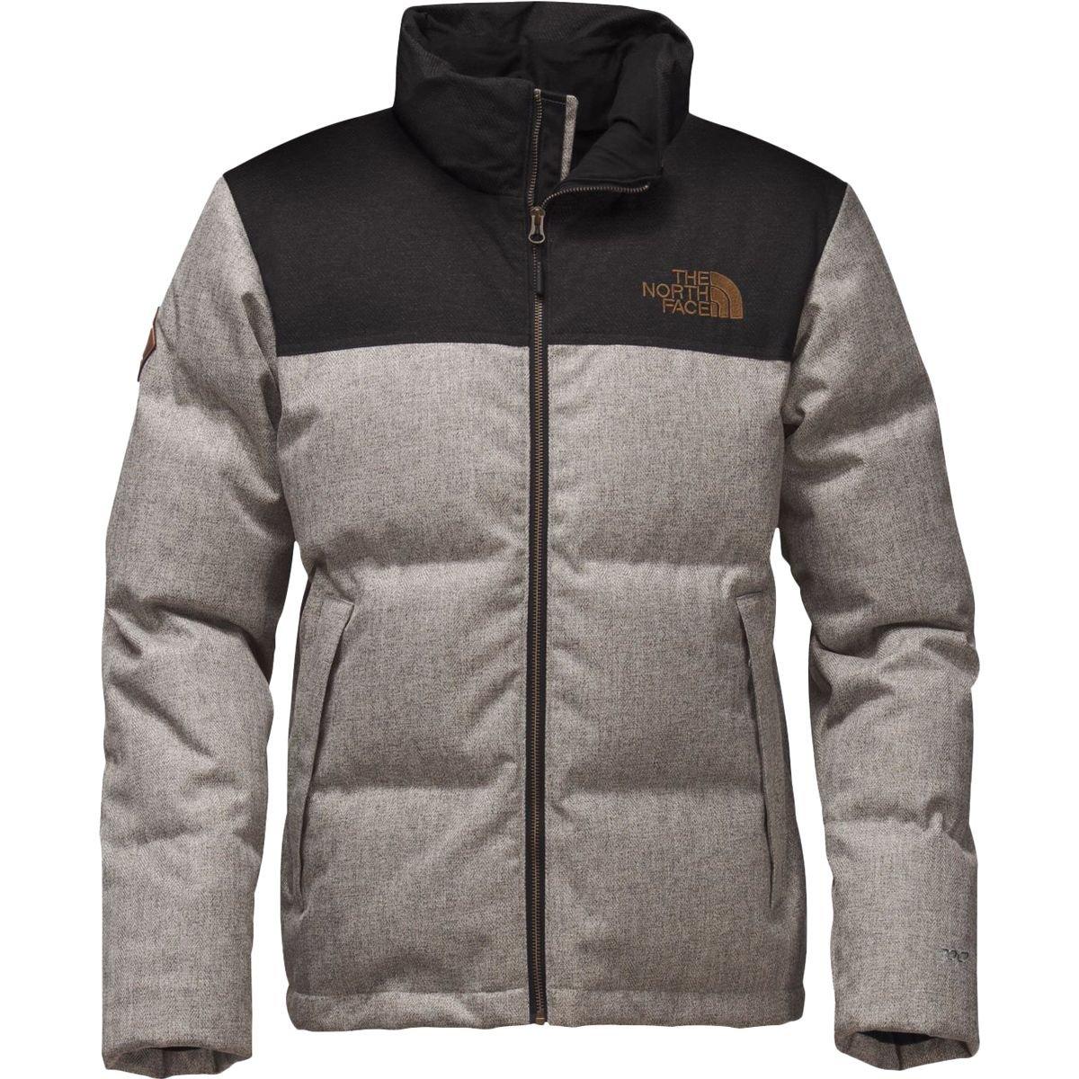 9c1b6a64d2 Amazon.com  The North Face Men s Novelty Nuptse Jacket Monument Grey  Herringbone Tnf Black Dobby Large  Sports   Outdoors