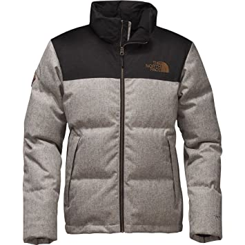 The North Face Chaqueta de Hombres de la Novedad Nuptse, Monument Grey Herringbone/TNF Black Dobby: Amazon.es: Deportes y aire libre