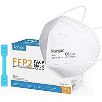 konjac Mascarillas FFP2 homologadas CE 2163 (30 unidades) Cinco capas Mascarillas Faciales Según Norma Europea EN 149…