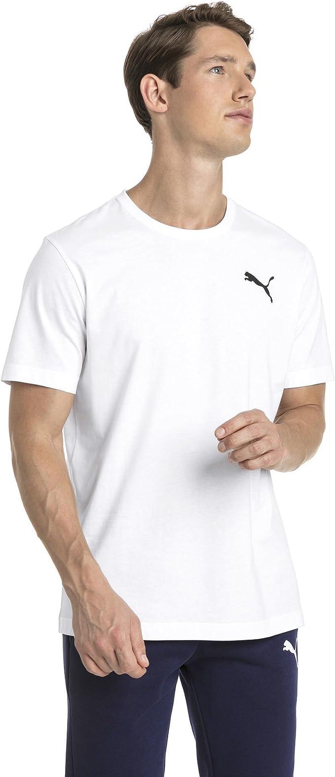 PUMA Herren Essentials Small Logo T Shirt Puma White _Cat