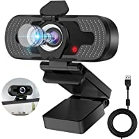 HD Webcam 1080p Web Camera, Eocean Webcam with Microphone & Privacy Cover, Web Cam with Auto Light Correction, Web…