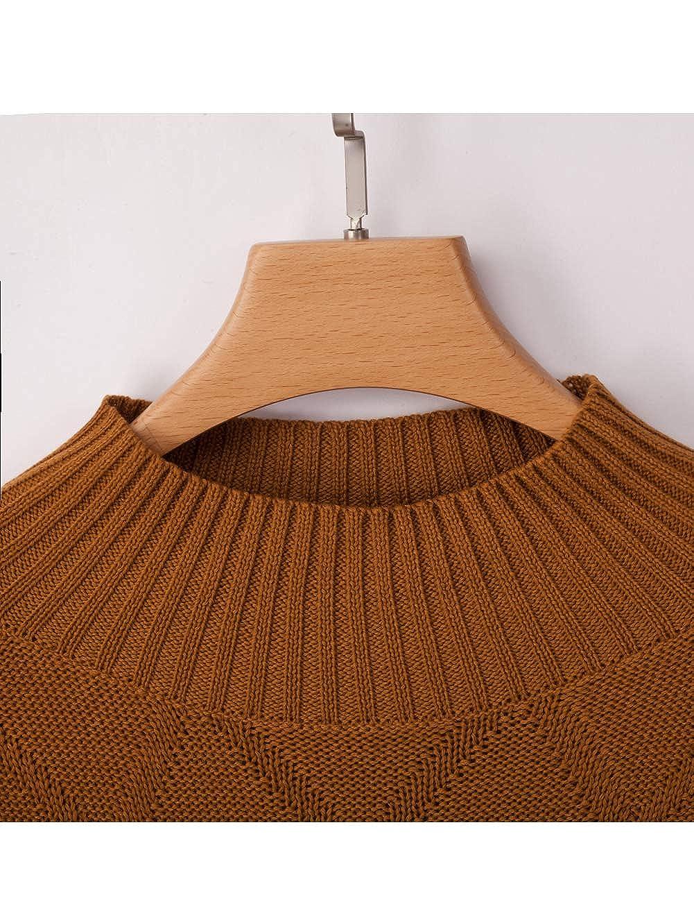 Bibowa Women Mock Turtleneck Sweater Slouchy Sweater Baggy Oversized Comfy Pullover