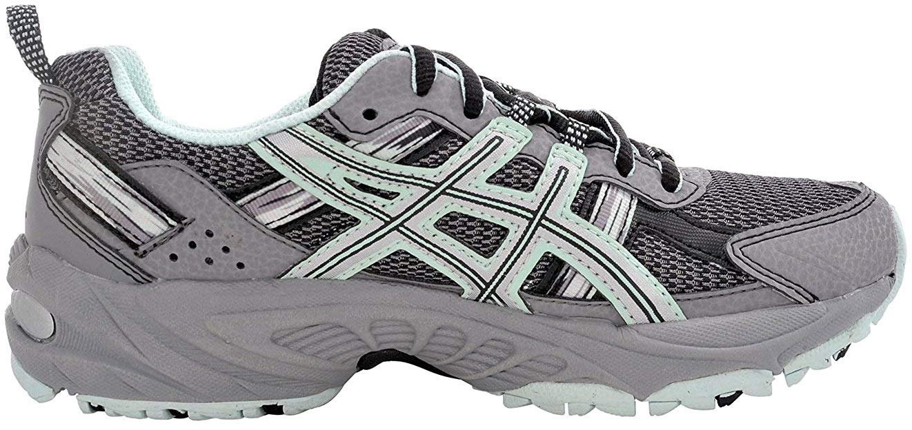 ASICS Women's Gel-Venture 5 Trail Running Shoe, Frost Gray/Silver/Soothing Sea, 6 M US by ASICS (Image #4)