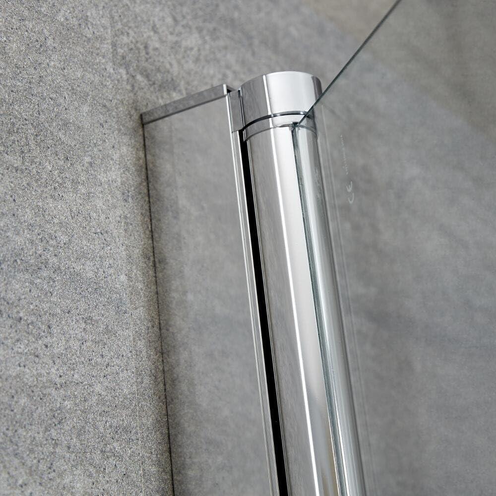 Mampara Puerta de Ducha Bañera Puerta 1400mmx250mm Vidrio Fácil ...