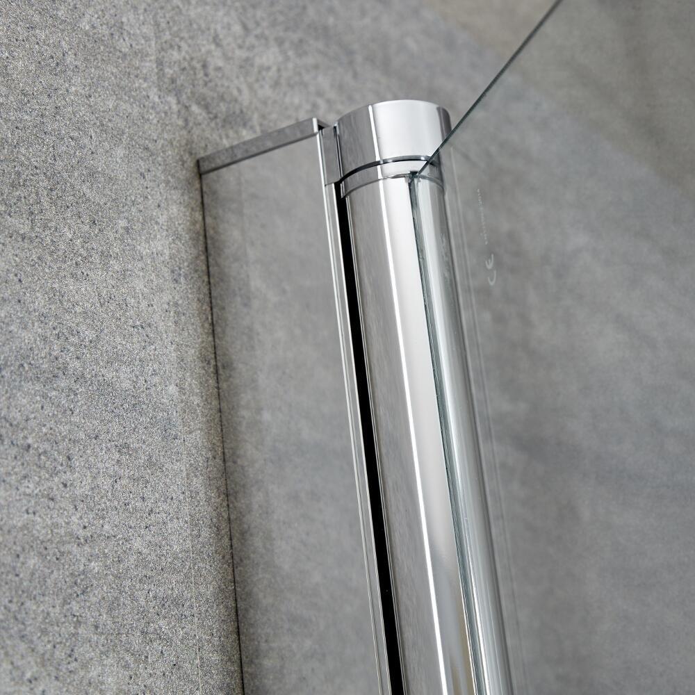 Pare-Baignoire Arrondi Verre Transparent S/écurit/é Trait/é Anti-Calcaire 140x80cm Portland Hudson Reed