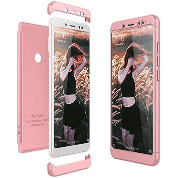 CE-Link Funda Xiaomi Redmi Note 5 Carcasa Fundas para Xiaomi Redmi Note 5 360 3 en 1 Desmontable Ultra-Delgado Anti-Arañazos Case Protectora - Oro ...