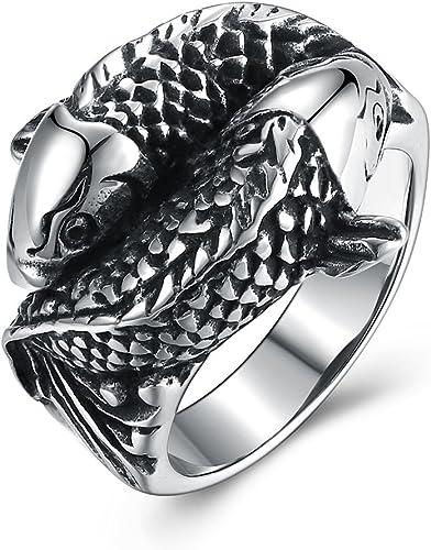 Vanski Jewelry Stainless Steel Koi Carp Ring Band For Men Punk