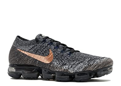 8f106f5622 Image Unavailable. Image not available for. Colour: SasleTOPS Air Vapormax  Flyknit Black Metallic Red Bronze849558 010 Mens Running Shoes