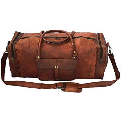 26 Inch Square Duffel Travel Duffle Gym Sports Overnight Weekend Leather Bag bc68b6b610a6d
