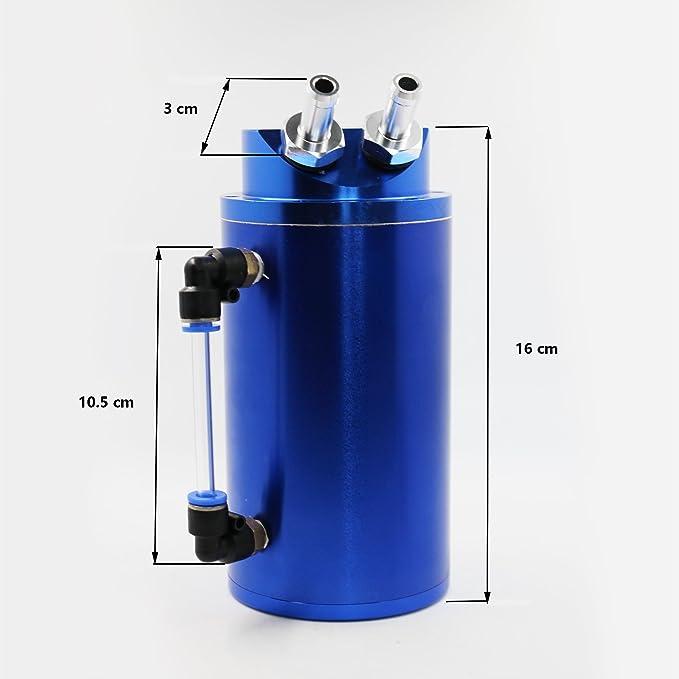 MODAUTO Depósito Aceite de Coche, Decantador de Aceite, Captura de Aceite de Motor, Aluminio Pulido, Redondo, Modelo E080BL, Color Azul: Amazon.es: Coche y ...