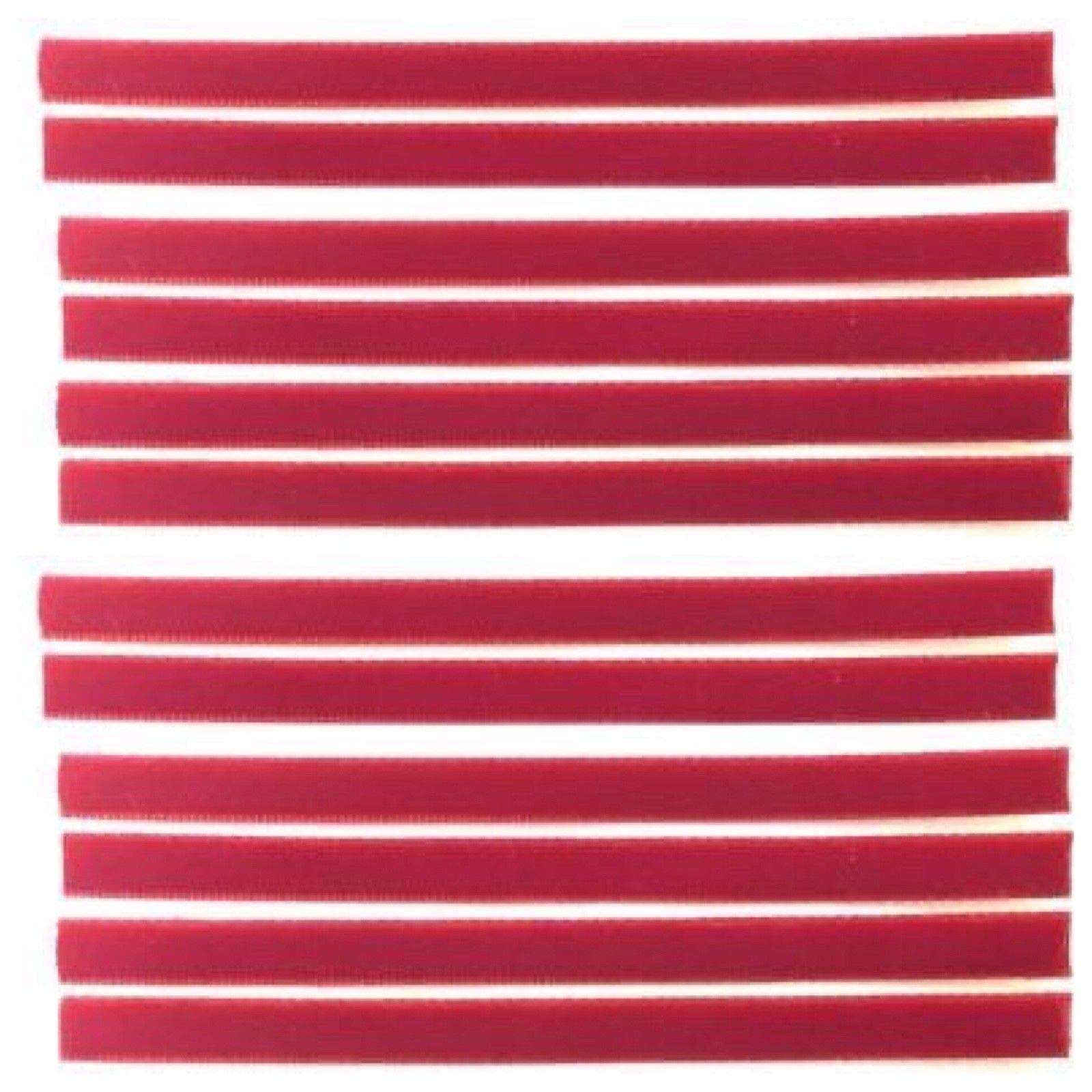 Replacement VPI Strips (Qty. 12) Luxury Velvet/Felt 3M Adhesive Okki Nokki Vinyl Record - Red by Capitol Collectibles