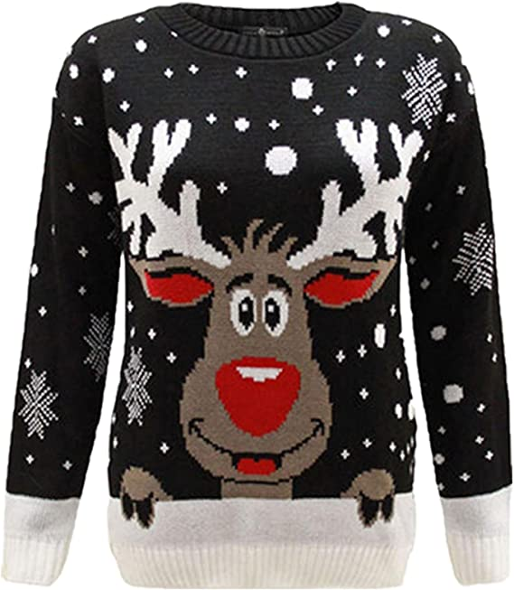 Kids Snowman Christmas Jumper Age 3-13 Years