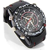 HI-TECH VISION Spy Wrist Watch with 4GB Memory (Black)