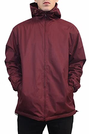 Maxxsell Mens Reversible Fleece Lined Hooded Windbreaker Rain