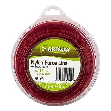Groway Force Line - Nylon para desbrozadora, redondo de 3mm ...