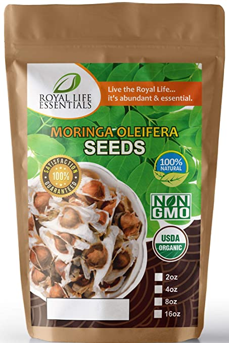 Seeds - Moringa Oleifera USDA Certified Organic Seed - 4oz (Aprx  400)  Moringa Trees are Great Indoor & Outdoor Gardening The Miracle Tree for