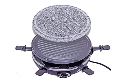 King of Raclette 2 in 1 Round Party BBQ Grill