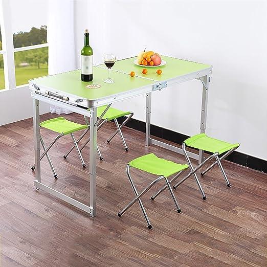 NSS Mesa Plegable y sillas portátil para Acampar al Aire Libre ...