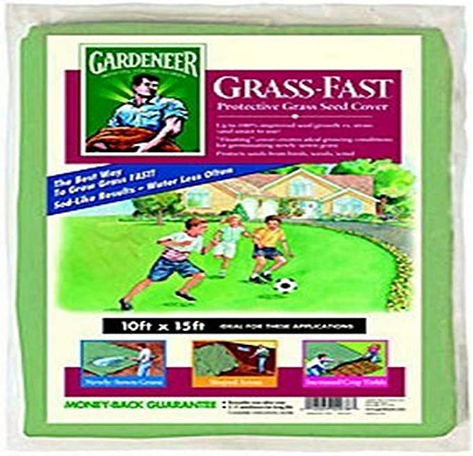 White Dalen GF1015 Grass Fast 10-Foot by 15-Foot Lawn Seeding Cover