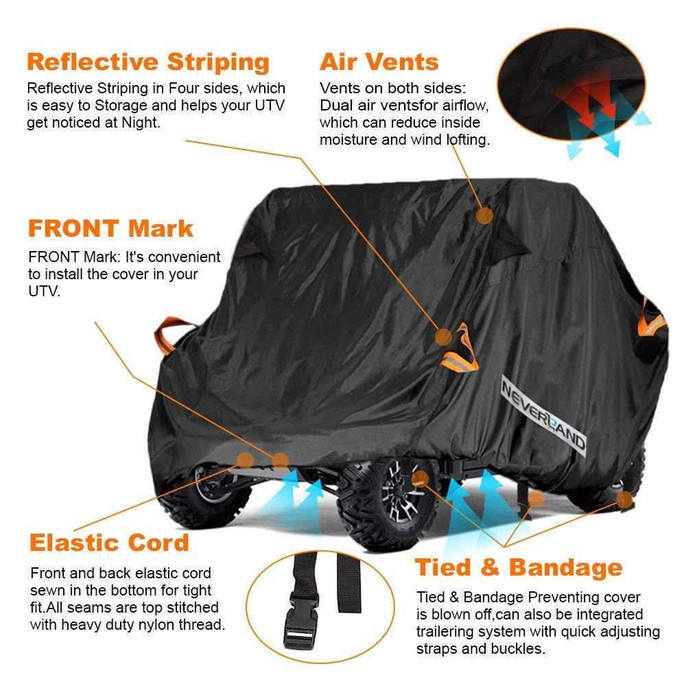 NEVERLAND UTV Abdeckung Wasserdicht Für Textron Off Road Wildcat Trail Sport 700