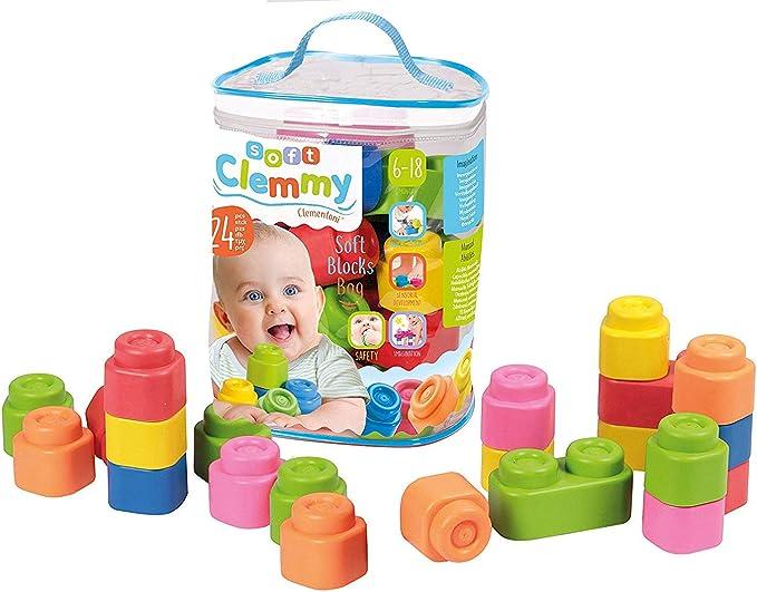 Clementoni-Baby Clemmy Construcción 24 Bloques blandito ...