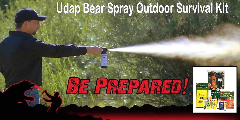 Udap Bear Mace Outdoor Survival Gear | Adventure Kit | Bear Spray Outdoorsman Camping Set