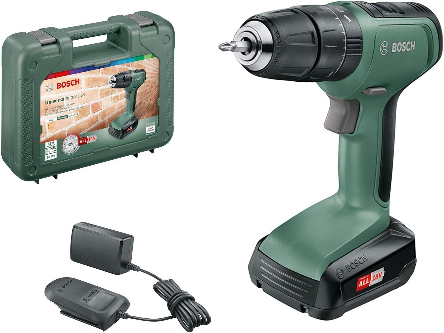 Bosch UniversalImpact 18 - Taladro, 1 Batería, Sistema de 18 V, en Maletín: Amazon.es: Bricolaje y herramientas