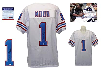 9a7169e0630 Image Unavailable. Image not available for. Color: Warren Moon Signed  Custom Jersey ...