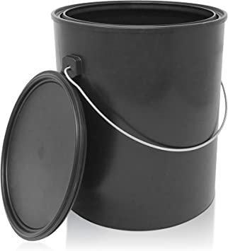 Amazon Com Csbd Empty Paint Can With Plastic Lid Gallon And Quart Sizes Unlined Multipurpose Storage For Arts And Crafts Diy Projects Painting Garage Organization Carry Handle 1 Gallon Plastic 1 Pack Home