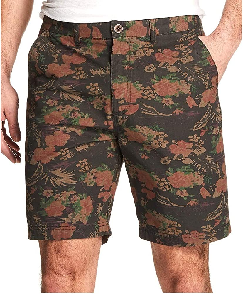 Weatherproof Vintage Mens Printed Shorts Dark Floral 42