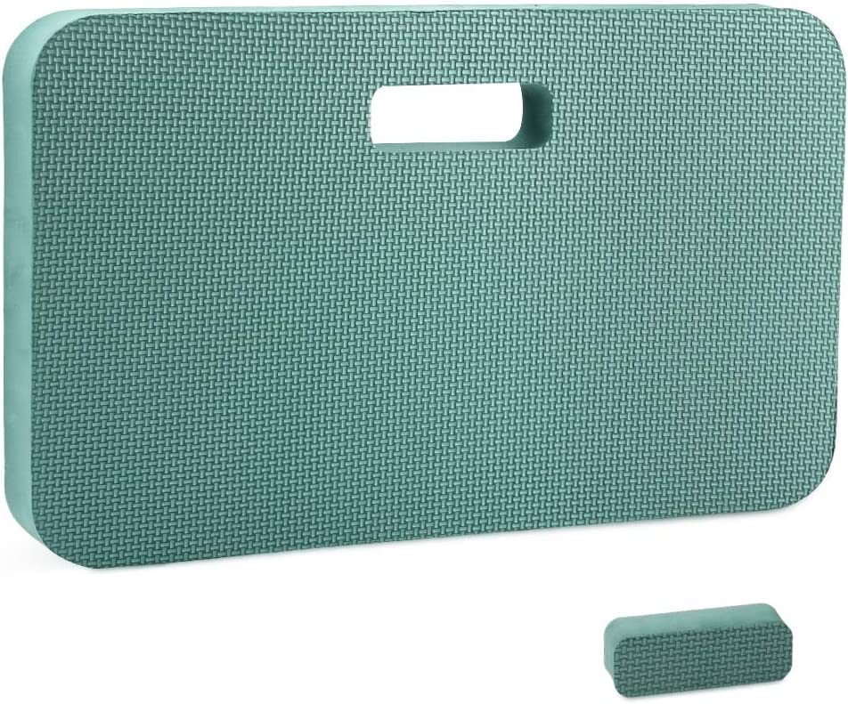 G GOOD GAIN Thick Kneeling Pad, Garden Kneeler,Bath Kneeler for Baby,Pet.Kneeling Mat for Prayers Exercise,Yoga.Knee Pad for Work,Floor Foam Pad.Extra Large (XL) 18 x 11 x 1.5 Inches,Dark Green