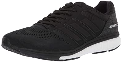 finest selection 5b78a 6b281 adidas Mens Adizero Boston 7, BlackWhiteCarbon, 6.5 M US