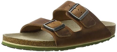 Birkenstock Unisex-Erwachsene Arizona Leder Softfootbed Pantoletten