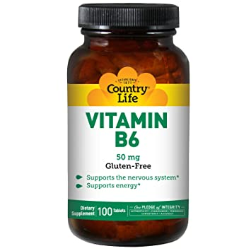 Country Life Vitamin B-6, 50 mg - 100 Tablets