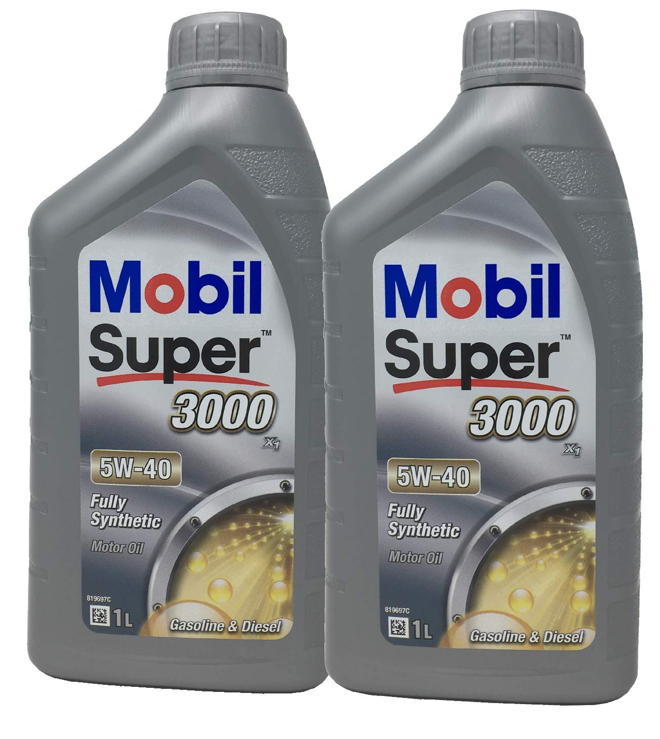 Aceite Lubricante Motor - Mobil Super 3000 X1 5W-40, Pack 2 litros ...